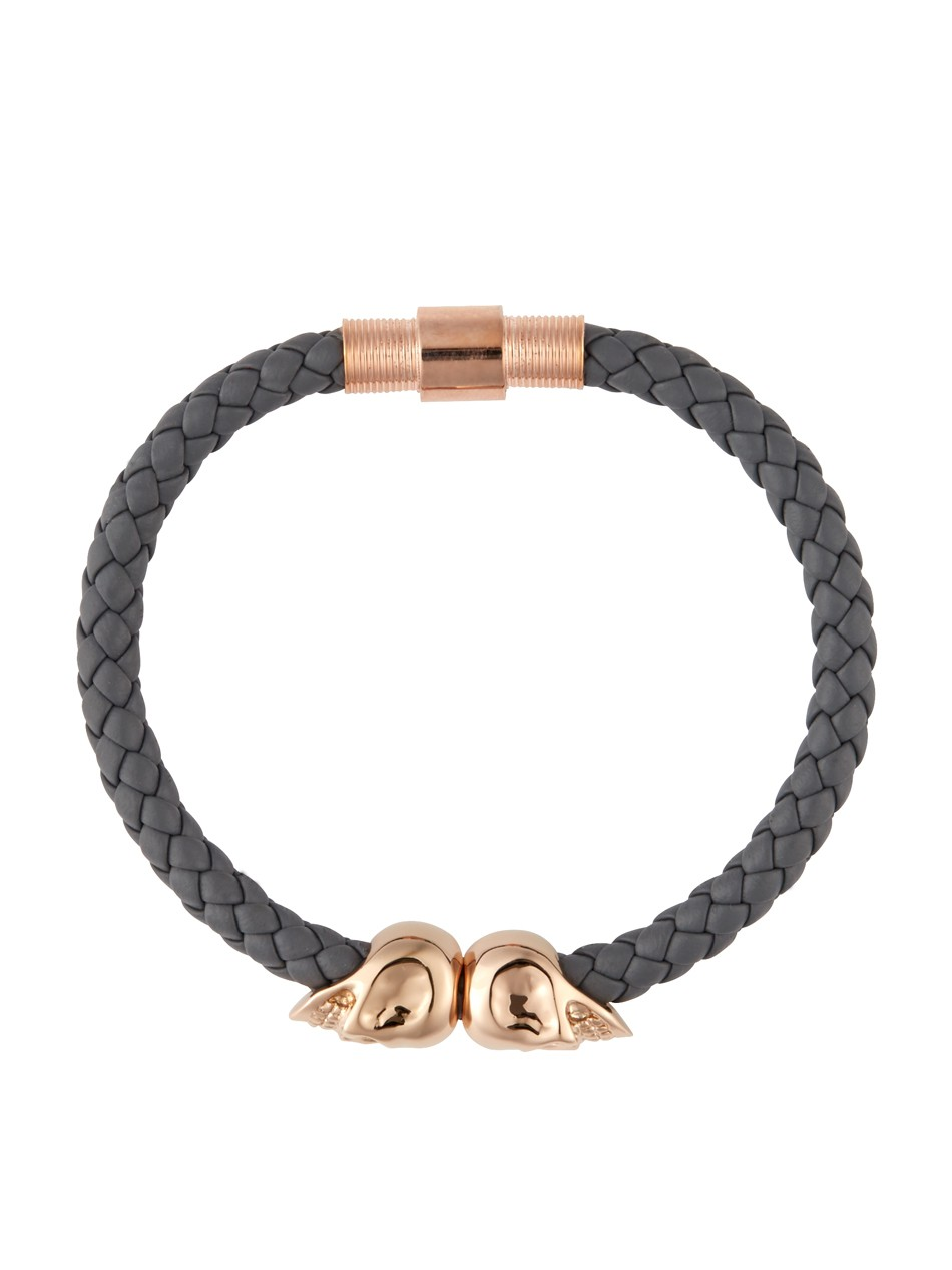 Skull Bracelet India Rose Gold Twin Skull Bracelet